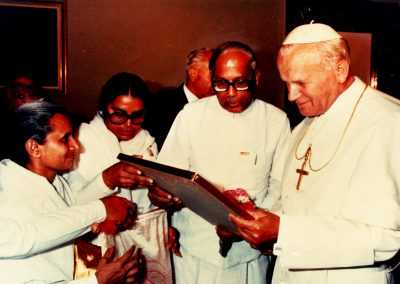 Brother Jagdish and Pope John Paul II