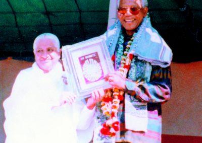 Dadi Prakashmani and Nelson Mandela